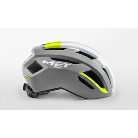 MET Vinci MIPS Helm, grey/safety yellow glossy